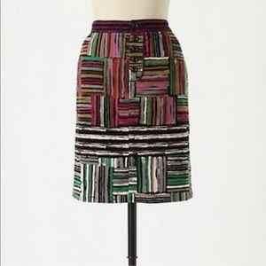 Odille Multicolored Velvet Pencil Skirt